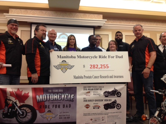 Campaign kick off Motorcycle Ride for Dad